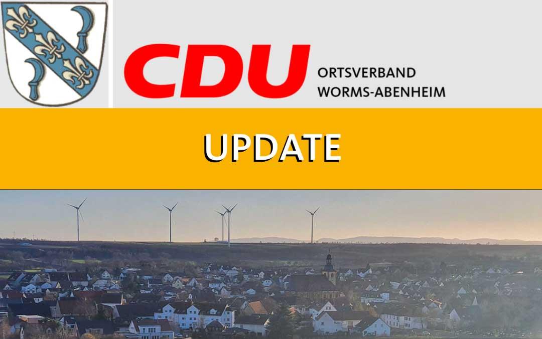 Aktuelle Informationen der Stadt Worms Stand: 11.05.2020