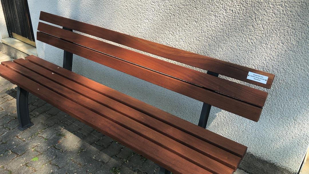 Sitzbank gespendet Georg Gander