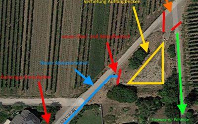 Google Maps Bild mit den abgebildeten Maßnahmen