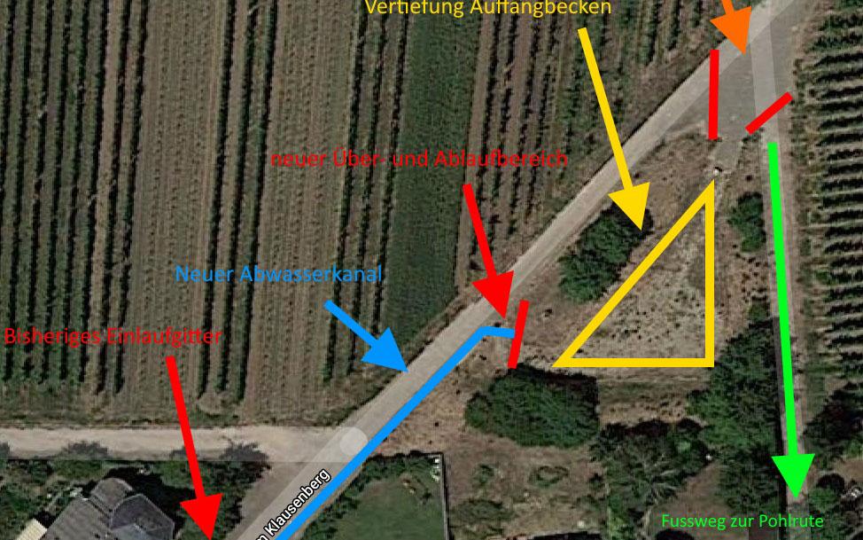 """Optimierung des Regenwasser-Rückhaltebeckens """"Zum Klausenberg"""""""