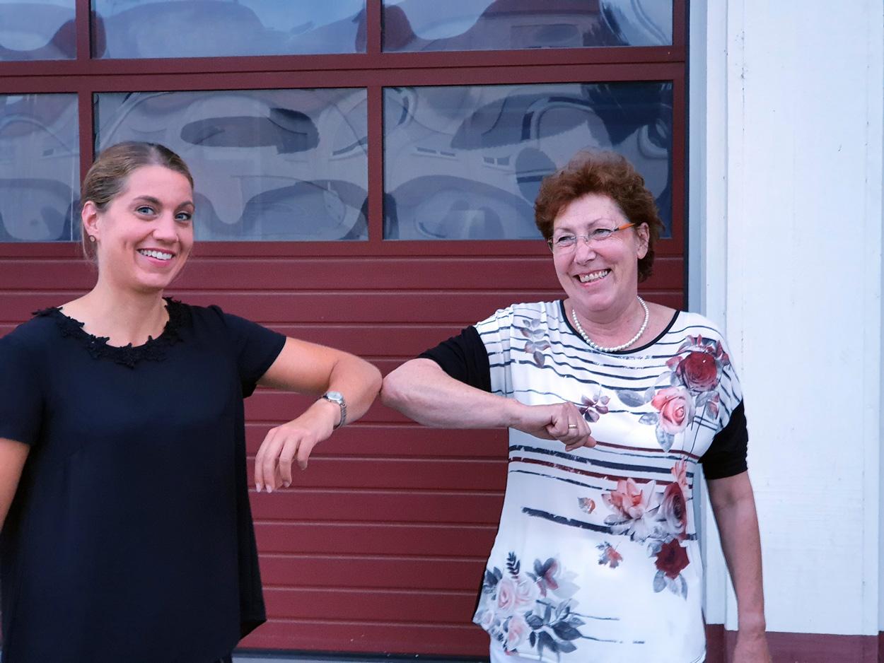 Stephanie Lohr und Helga Vierheller