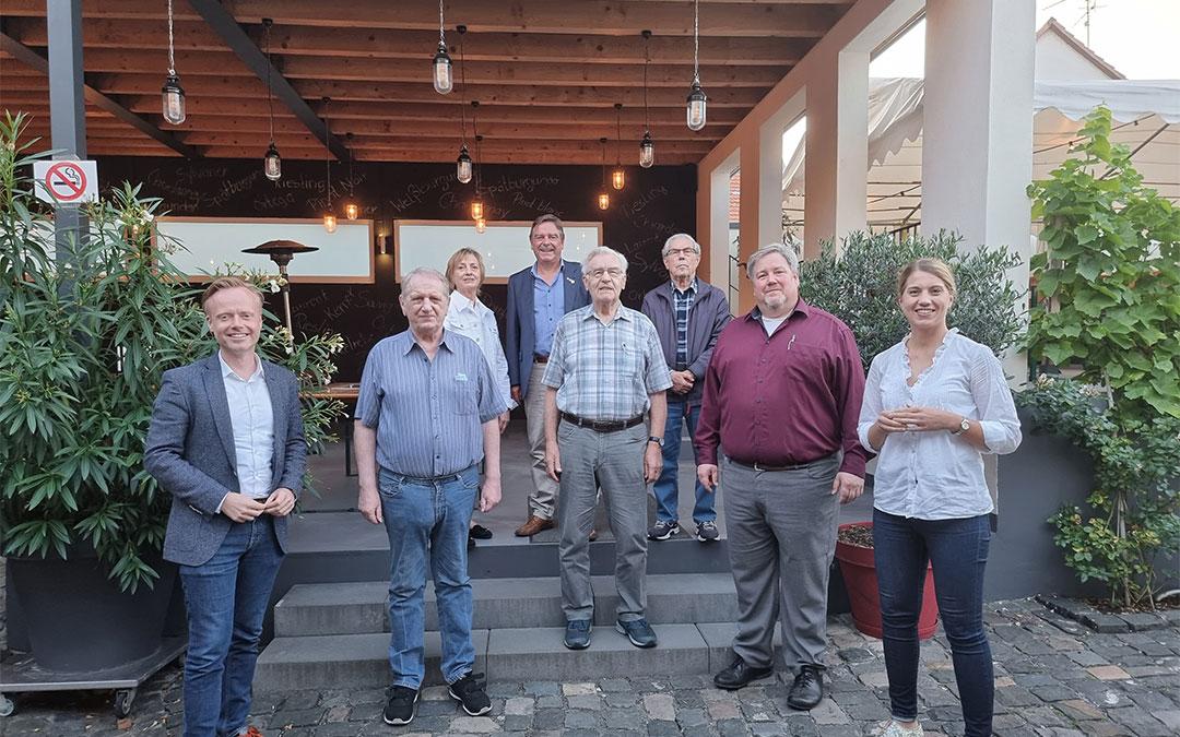 Mitgliederehrungen bei der CDU Abenheim im Weingut Boxheimer Hof