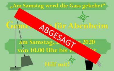 """Absage """"Gemeinsam für Abenheim"""""""
